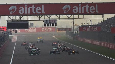 2013年F1第16戦のスタート