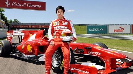 小林可夢偉フェラーリ搭乗
