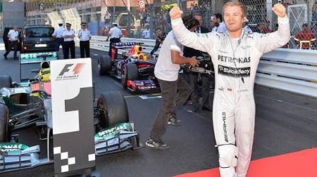F1モナコGP優勝のニコ・ロズベルグ