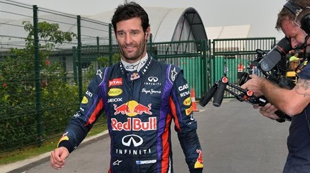 F1インドGPウェバーの表情