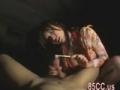 長爪による尿道責めで爆射する男