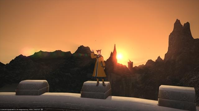 クルザスの夕日