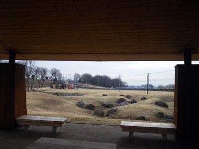 あいのやま公園で休憩