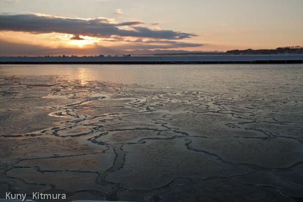海も凍り出した