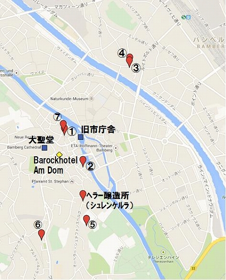 s-バンベルク醸造所MAP
