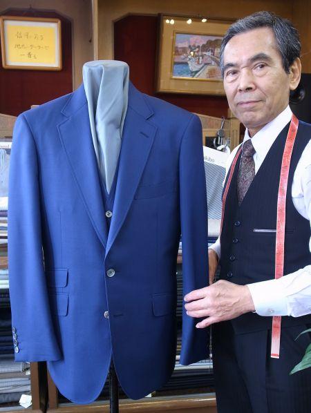 ブルーのカノニコのジャケット