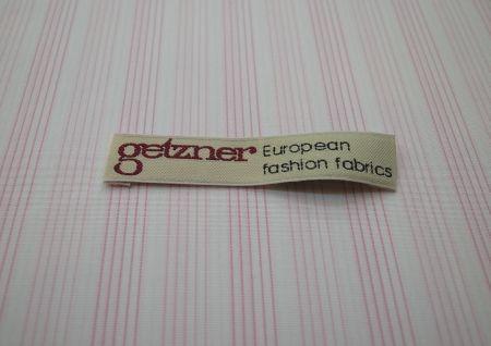 ピンクストライプのゲッツナーのワイシャツ