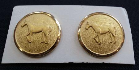 ホーランドシェリー社の馬のメタルボタン
