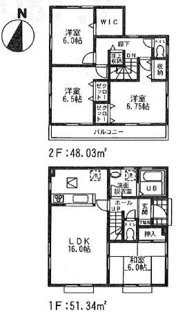 怒田間取図14