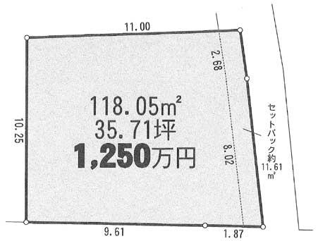 早川売地区画図