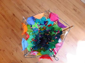 折り紙アサガオ