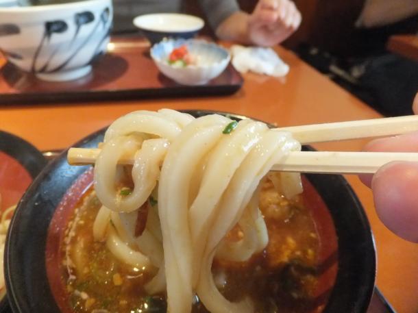 牛筋赤味噌つけ麺(温)