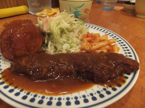 ビーフカツ定食+コロッケ