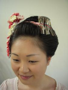 新日本髪 左サイド