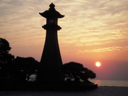 平成25年10月末 宍道湖の夕景