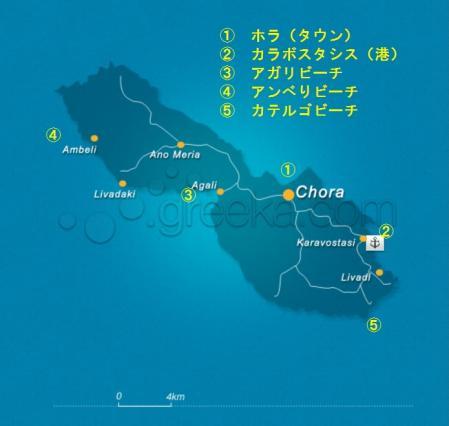 フォレガンドロス島 地図