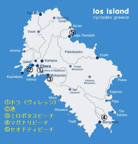 イオス島地図