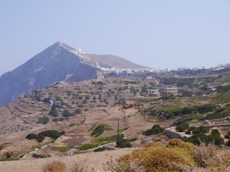 フォレガンドロス ホラの町並み
