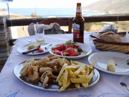 セオドティビーチでの昼食
