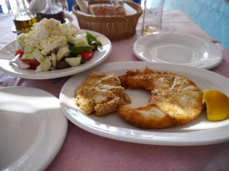 マガナリビーチの昼食