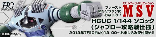 HGUC ゾゴック(ジャブロー攻略戦仕様)b