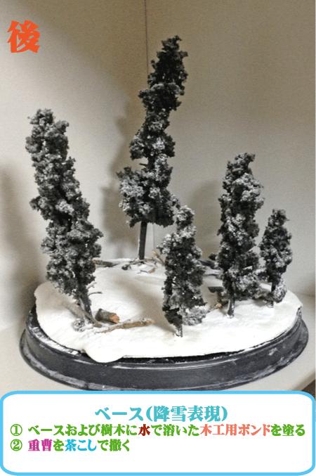 雪のジオラマ