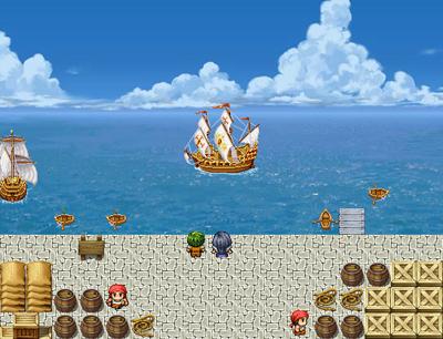 帆船キャラチップ使用例