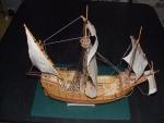 ペーパークラフトの帆船