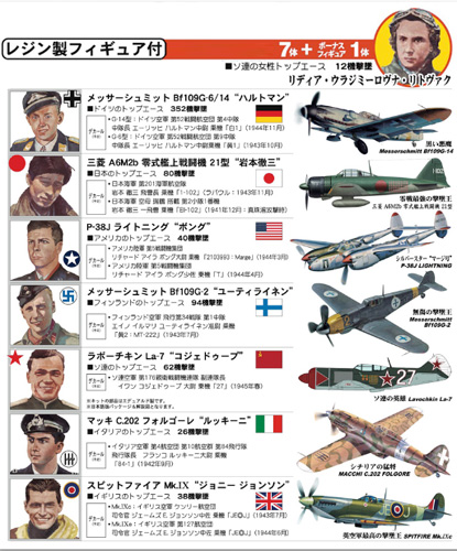 WWII 世界のエース7機セット