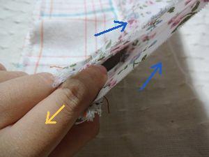 布縫い付け②
