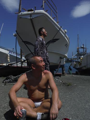 打ち上げ漁師