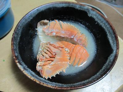 ウチワエビの味噌汁
