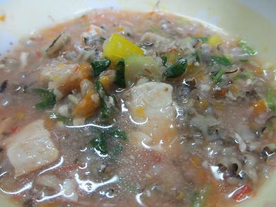 シイラ入りトマトスープ