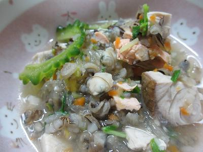 夏と秋のごちゃ混ぜスープ