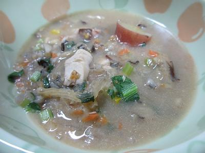 お魚入り味噌スープ