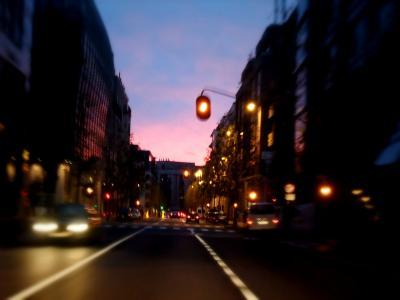 夕暮れの道