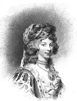 Queen Charlotte from Memoirs by John Watkins 1819-greyscale