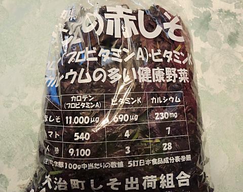 7月11日 赤紫蘇