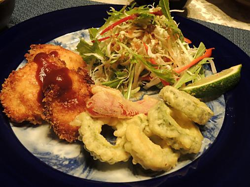 10月9日 チキンフライ、ゴーヤの天ぷら