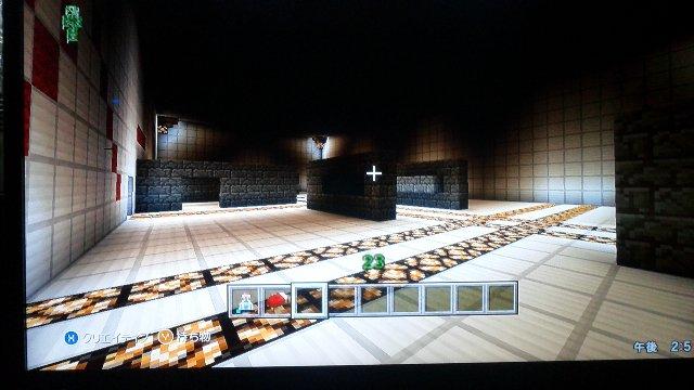 スーパー内部。未完成と言う事ですがちょっと薄暗くないか?