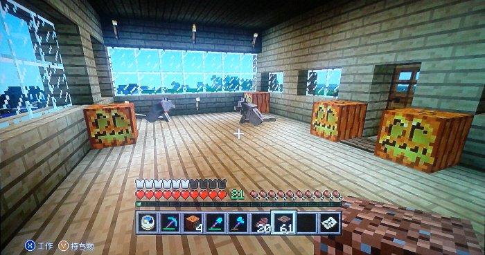 本丸御殿1階内部。1階はオーソドックスにしています。番犬2匹在中