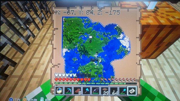 地図上で示された草原化した大陸