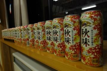 20130831夜宮空き缶ビール