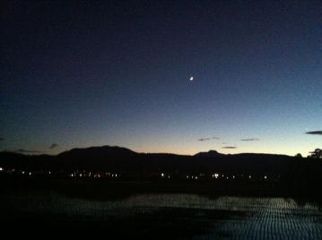 20130612CAAD10夕暮れライド月