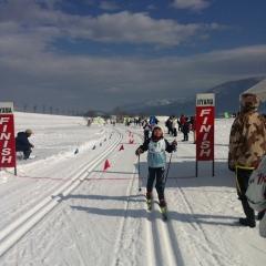 20140202木島クロスカントリースキー大会youゴール