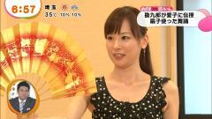 皆藤愛子アナの綺麗な脇画像