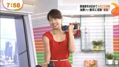 加藤綾子ダンベルエクササイズ画像1