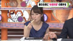 枡田絵理奈アナ飲食シーン画像