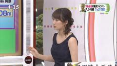 枡田絵理奈アナの横乳二の腕画像