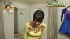 広瀬麻知子アナ黄色シースルー巨乳画像